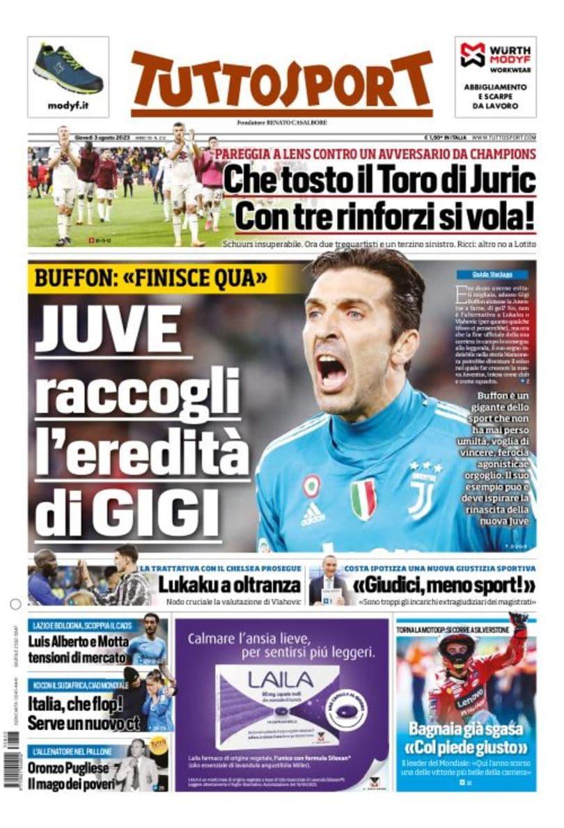 prima pagina tuttosport italia
