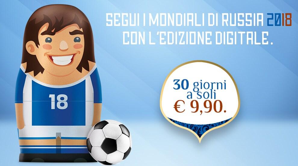 Promo Edizione Digitale Mondiali Russia 2018 - Tuttosport